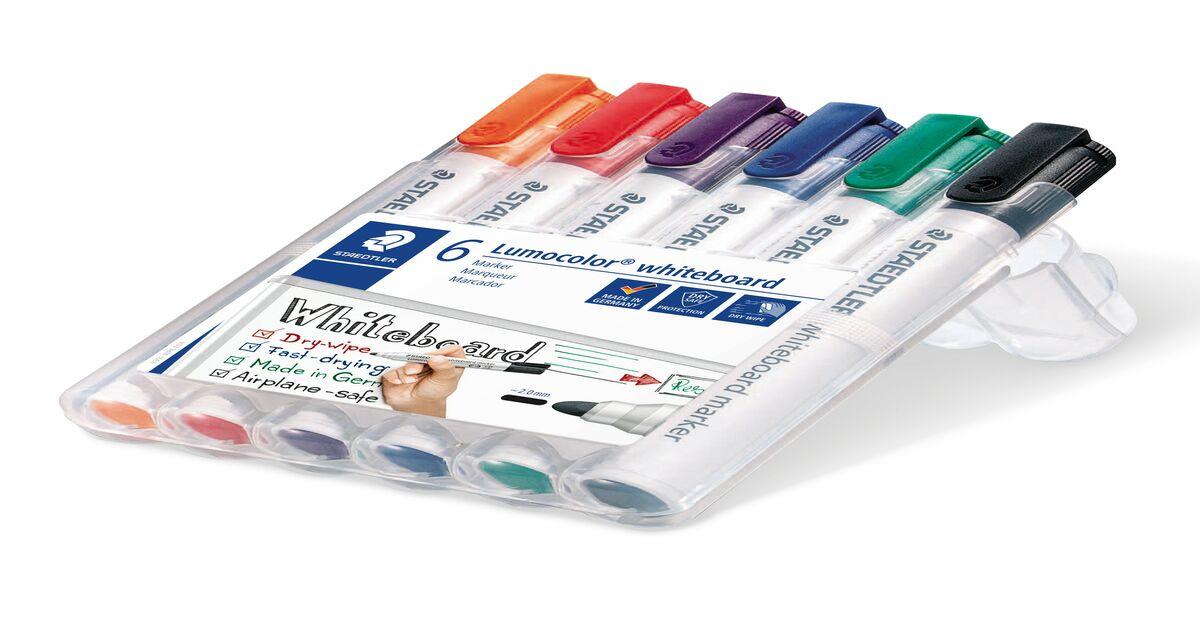 STAEDTLER Lumocolour Whiteboard Marker with Bullet Tip Pack of 6 FREE FAST DEL.